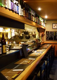 Japanese traditional counter seats.