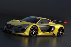 Renault is restating its passion for motor sports with the Renault Sport R. a racing car of spectacular styling and exceptional performance. Nissan Gt R, Renault Sport, Eco Friendly Cars, Top Cars, France, Future Car, Car Photos, Courses, Fast Cars