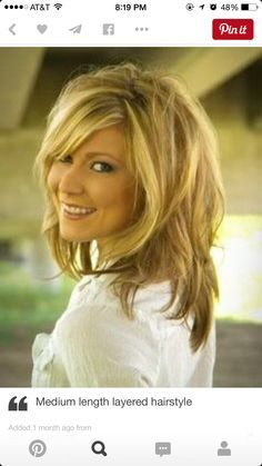 Medium Length Hair With Layers Hairstyles For Over 40 Women