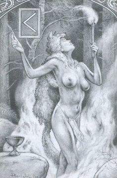 """KAUNAZ KÊNAZ Кеназа Я. Кеназа """"факел"""", непримиримой: руны качества яркий факел (кен); знак рун в некотором смысле отчетливо зловещим: Кауна, """"гной"""" . два аспекта символизма пламени в качестве источника тепла и света, но и смерти. Кеназа: подписать выгодный свет. Он выражает качество сияющей и оживляет первичной ВС богу Heimdall. Хеймдалл это огонь Овна.божественную искру; огонь интеллект Словом ритуал, который дает жизнь; Но это также сила шаманских огней или убийств..."""