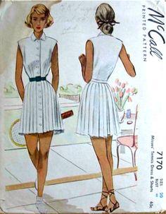 1940's tennis dress
