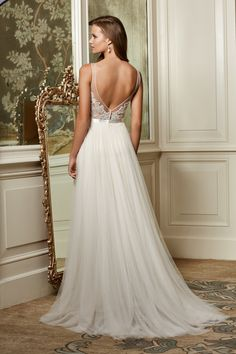 love the back of this gown...and the front. It's so beautiful! #wedding #bride #fashion