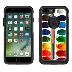 Skin Decal for Otterbox Commuter Apple iPhone 7 Plus Case - Watercolor For Apple iPhone 7 Plus:Amazon