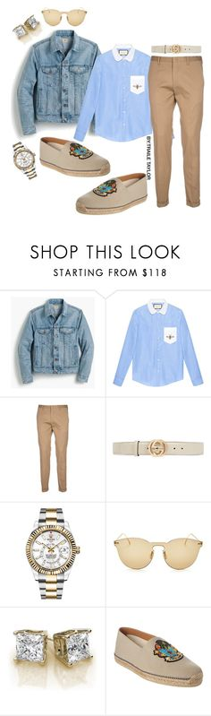 """""""BLESSED"""" by traile-anthony-taylor ❤ liked on Polyvore featuring J.Crew, Gucci, Paul Smith, Rolex, Illesteva, Christian Louboutin, men's fashion and menswear"""
