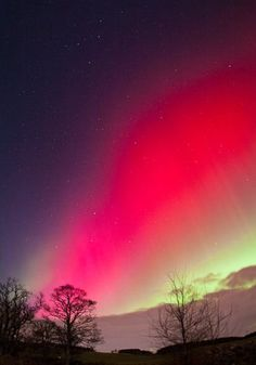 Northern lights captured over Aberdeen UK