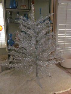 wowza Huge vintage ALUMINUM CHRISTMAS TREE  by welovelucite, $155.00