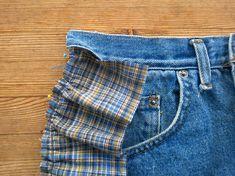 Tuunausta ja tekeleitä: Ohjeet farkkujen totaalikierrätykseen, osa 3 Denim Shorts, Women, Fashion, Moda, Women's, La Mode, Fasion, Jean Shorts, Fashion Models