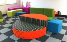 Like the idea of flexible, versatile furnishings. Can quickly refigure a space to suit purpose/needs.