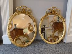 A Pair of victorian wall mirrors