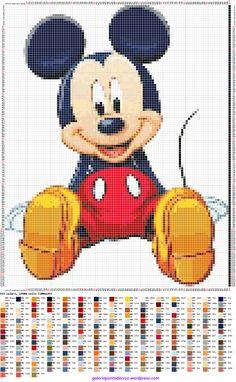 Mickey Mouse. Punto de cruz – Galeria punto de cruz