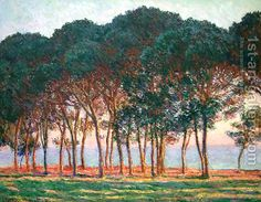 Claude Oscar Monet:Under The Pine Trees At The End Of The Day