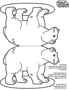 polar animals printable templates coloring pages - Arctic Colouring Pages