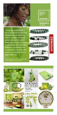 """""""Greenery Color Trend 2017"""" by yours-styling-best-friend ❤ liked on Polyvore featuring Cultural Intrigue, Heath Ceramics, Jangneus, Herend, NOVICA, Cost Plus World Market, Old Dutch and Home Decorators Collection"""