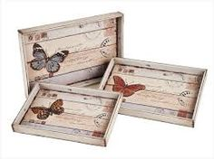 bandeja vintage – Keep up with the times. Decoupage Vintage, Decoupage Box, Vintage Crafts, Shabby Vintage, Palet Projects, Wood Projects, Craft Projects, Primitive Crafts, Wood Crafts