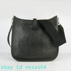 01d0a12dafb HermesEvelyne26BlackLeatherCrossbodyHandbag #fashion #clothing #shoes  #accessories #womensbagshandbags (ebay link)