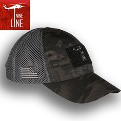 c3fad790b8e Dark American Made Mesh Back Hat with Drop Line