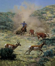 Bill Owen ~ The Cowboy Artist Cowboy Artwork, Bill Owen, Cowboy Horse, West Art, Cowboys And Indians, Country Art, Equine Art, Wildlife Art, Horse Art