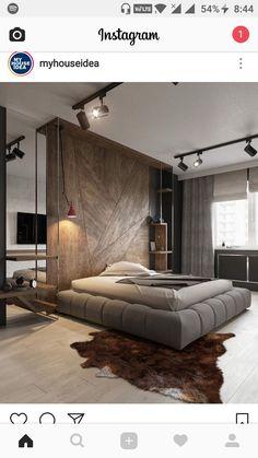 Urban Bedroom, Modern Master Bedroom, Storage Spaces, Loft Design, Men  Design,
