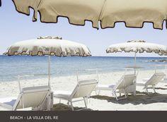 The private #beach of #lavilladelre #hotel at Località Su Cannisoni, #costarei #sardinia #italy www.lavilladelre.com