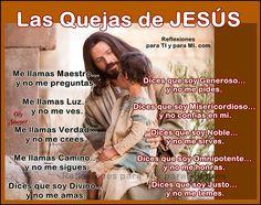 Las Quejas de JESÚS