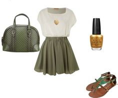 army green, is so pure color, I love the outfit and chic satchel bag