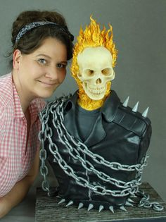 Ghost Rider 3D Bust Cake for Cake con Collaboration 2017