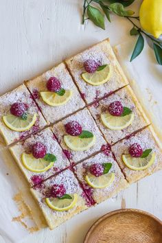 These Raspberry Lemon Bars Are the Best Way to Enjoy Fresh Raspberries and Lemons!