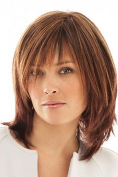 infatuation by raquel welch wigs Razored Hair, Medium Hairstyles, Medium Haircuts, Bangs With Medium Hair, Modern Haircuts, Medium Layered Hair, Layered Haircuts For Medium Hair With Bangs, Hairstyles With Bangs, Bang Hairstyles