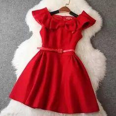 Fashion Bow Lotus Leaf Collar Dress on Luulla Kids Dress Wear, Little Girl Dresses, Baby Dress, Girls Dresses, Prom Dresses For Sale, Backless Prom Dresses, Cute Dresses, Dresses With Sleeves, Girl Outfits