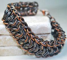Chain Bracelet  Copper Chainmaille Bracelet  by UrbanLynx on Etsy, $110.00