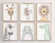 Safari Nursery Decor Safari set of 12 Animal Nursery Prints Nursery Prints, Nursery Wall Art, Nursery Decor, Paintings For Nursery, Nursery Wall Stickers, Jungle Nursery, Animal Theme Nursery, Jungle Baby Room, Animal Decor