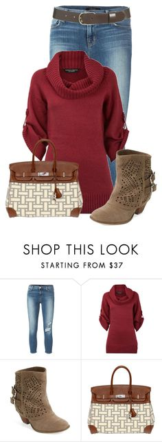 """Untitled #13098"" by nanette-253 ❤ liked on Polyvore featuring J Brand, Dorothy Perkins, Naughty Monkey and Hermès"