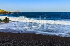 Qdiz Stock Images Stone Coast or Shore of Atlantic Ocean,  #Atlantic #background #beach #blue #Canary #coast #coastline #day #foam #horizon #island #landscape #nature #ocean #rock #rocky #sea #seascape #shore #sky #Spain #stone #summer #Tenerife #Travel #water #wave
