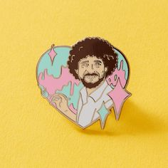 The Artist Enamel Pin // Bob Ross Painting Art Crafty Pin