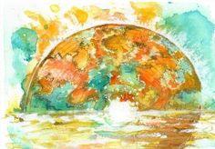Digital computer aided abstract art Ink Painting, Watercolor Paintings, Original Paintings, Gold Ink, Art File, Watercolours, Watercolor Flowers, Abstract Art, Digital Art