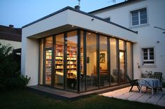HOUSE B - Garden house, porch and terrace - house .-HAUS B – Gartenhaus, Veranda und Terrasse – HOUSE B – garden house, veranda and terrace – house - Cultural Architecture, Education Architecture, Residential Architecture, Architecture Office, Keitel Haus, Porch And Terrace, Corporate Office Decor, House With Porch, Winter Garden