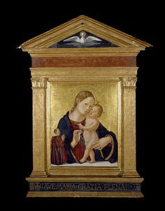 Antoniazzo Romano - Virgin and Child with Donor - Google Art Project (Museum of Fine Arts, Houston)