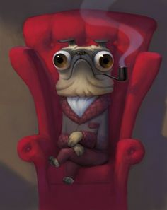 Sam Nielson. okay, this art is weird, but I love it! Great bug eyes! hehe <3
