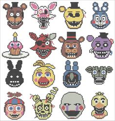 BOGO FREE! -Five Nights at Freddy's video game cross stitch pdf Pattern - pdf pattern instant download #140 by Rainbowstitchcross on Etsy