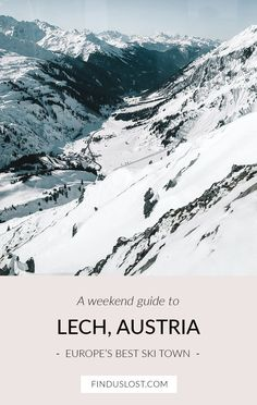 A ski trip guide for Lech, Austria -- a favorite winter destination for many Europeans. Couples and families visit annually for the best skiing and restaurants. Read on for where to stay, eat, and…MoreMore St Anton, Best Ski Resorts, Austria Travel, Romantic Vacations, Winter Travel, Snow Travel, Travel Guides, Travel Tips, Travel Destinations