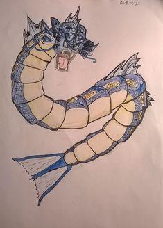 Tribal Gyrados by akiaookami on DeviantArt Tribal Pokemon, Third, Deviantart, Tattoos, Create, Drawings, Tatuajes, Tattoo, Sketches