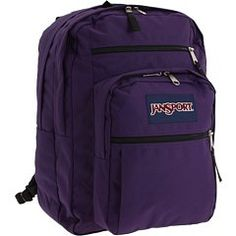 JanSport Big Student Classics Series Backpack Pure Purple * Check this awesome product by going to the link at the image. Best Kids Backpacks, Jansport Backpack, Vacation Ideas, Travel Style, Image Link, Student, Pure Products, Amazon, Purple