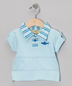 535a5df7a Look at this Sage Creek Organics Light Blue Shark Organic Polo - Infant,  Toddler