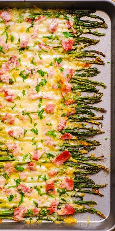 Ham and Cheese Asparagus - holiday side dish (Thanksgiving, Christmas, etc.) Ham and Cheese Asparagus - holiday side dish (Thanksgiving, Christmas, etc. Side Dishes Easy, Side Dish Recipes, Veggie Recipes, Side Dishes With Ham, Recipes Dinner, Thanksgiving Vegetable Sides, Thanksgiving Recipes, Sides For Thanksgiving Dinner, Sides For Dinner