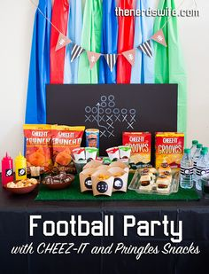 Football Party Ideas with free printables, recipes, and tutorials. Perfect for the Super Bowl or football season!