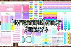 Erin Condren Horizontal Planner Stickers