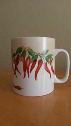chili pepers handpainted porcelain by Maria Zyga Kitchen utensils
