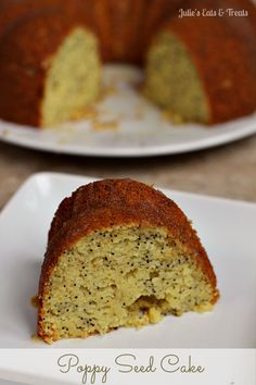 Poppy Seed Cake ~ Moist, buttery poppy seed cake drizzled in a yummy glaze! via www.julieseatsandtreats.com