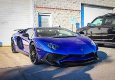 Lamborghini Aventador Super Veloce Coupe painted in Blu Sideris   Photo taken by: @h_hunt on Instagram (@steve_lp750 on Instagram is the owner of the car)