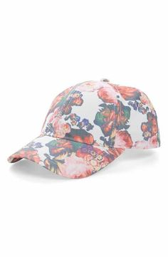 August Hat Caps Off Floral Baseball Cap